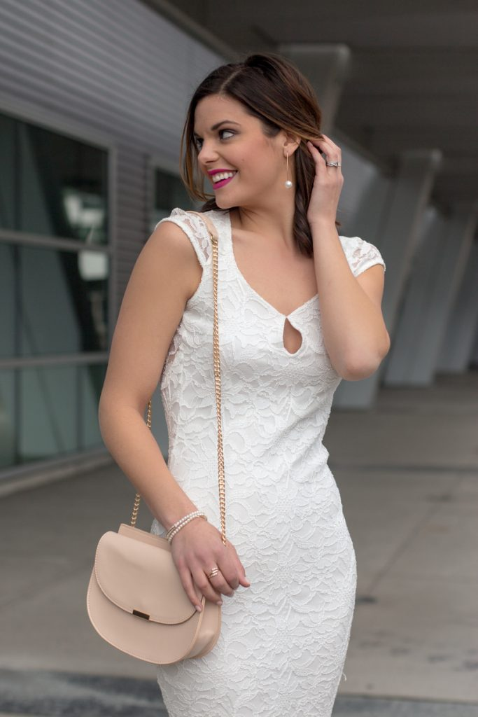 Backless Little White Lace Dress