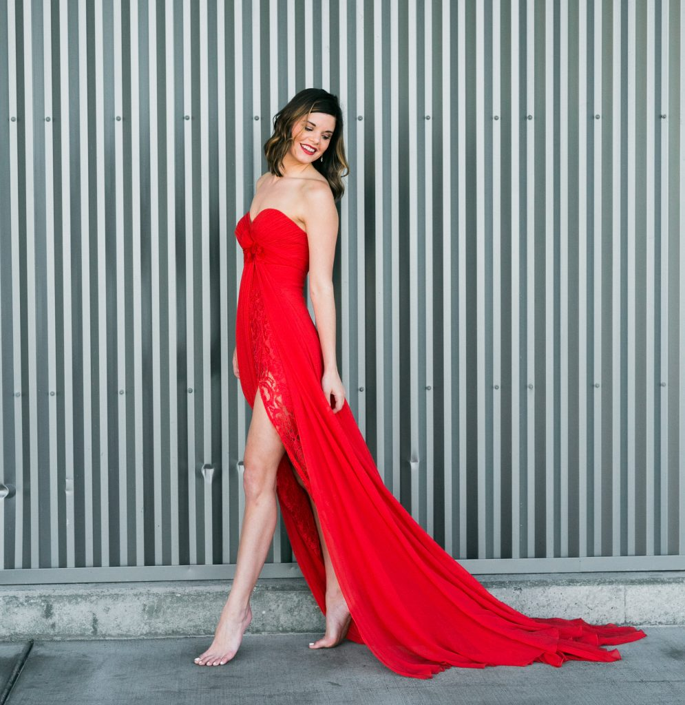 Third and Loom | Red Dress | Couture Gown