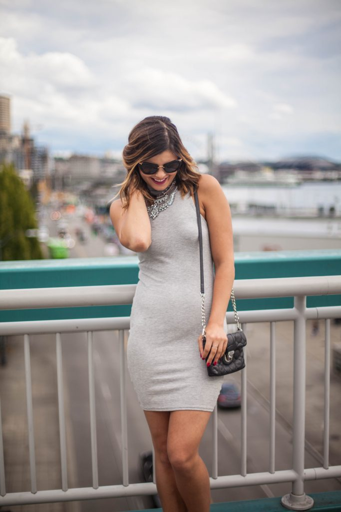 Her Boutique | Style Miss Molly | Chic Gray Bodycon | Street Style | Summer Fashion