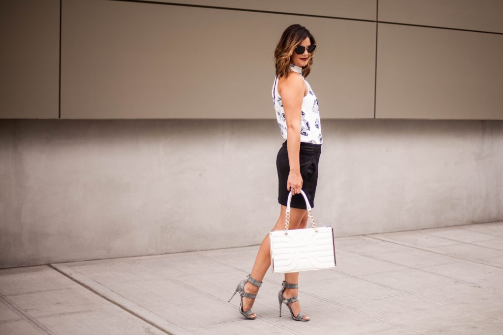 Black and White Sophisticated Street Chic Outfit | HerBoutique.com