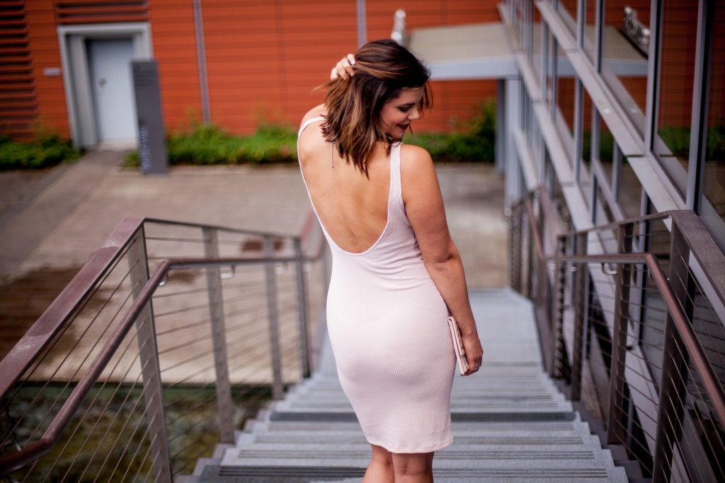 HERboutique.com | Little Pink Dress | Bodycon | Lace-Ups | The Real Reason Why I Blog | Style Miss Molly
