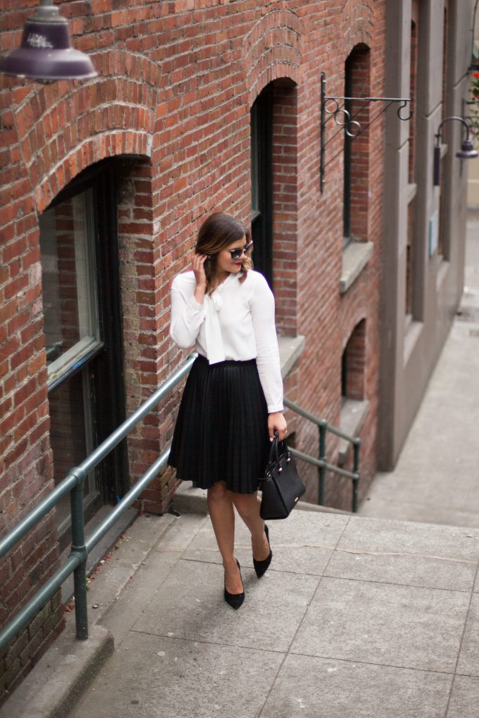 Unlocking your full potential | Street Style | Pleated Skirt | Fall Fashion