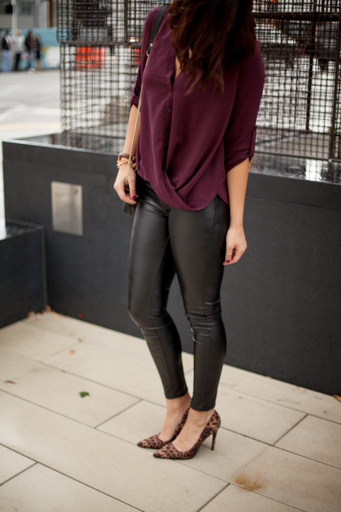 HerBoutique.com | Leather Leggings | Leopard Heels | Fall Fashion